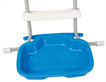 Past handig op Intex zwembadtrap
